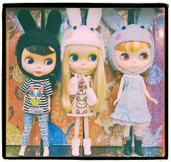 iPhone 103/365 : the bunny gang at Monae Doll shop