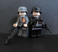 Lego Wehrmacht(Regular & SS) (airfixalf) Tags: lego german ww2 germaninfantry brickarms custombuiltlego