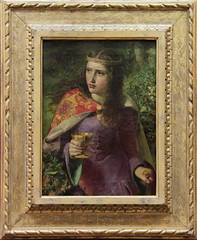 Queen Eleanor - Frederick Sandys, 1858 (Kotomi_) Tags: museum wales painting cardiff sandys preraphaelite nationalmuseumcardiff
