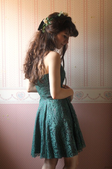 reconstructed vintage lace dress