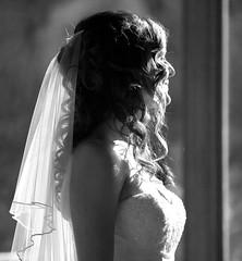 Beautiful Bride, Wonderful Friend, Sarah (Gillett) Goeller (orbital-vancouver) Tags: wedding portrait blackandwhite bw vancouver hair veil dress curly cypress cypressmountain westvancouver 70200lf4 sarahgillett larsgoeller larsandsarah sarahgoeller