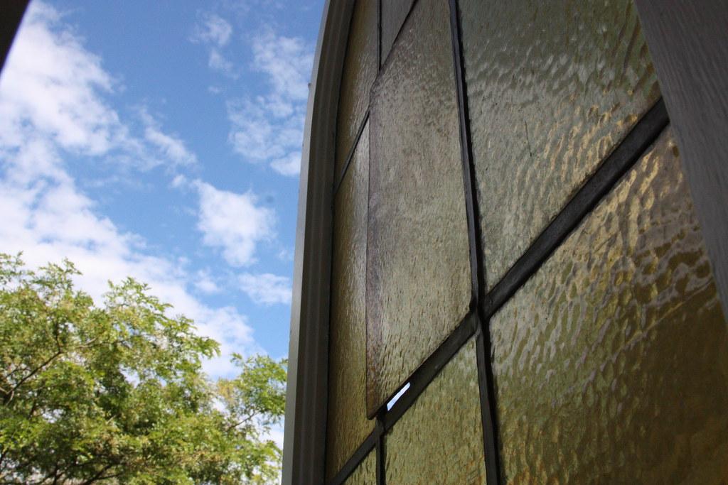 Stained glass window needs repair