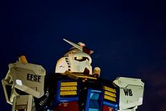 DSC05004 (Mitch'ins) Tags: japan night sony statues odaiba a200 2009  sal1870 giantgundam
