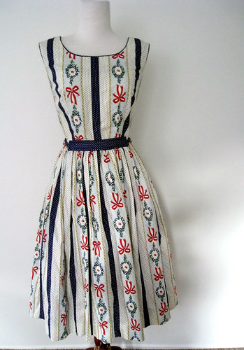 Bows & Wreaths Print Dress