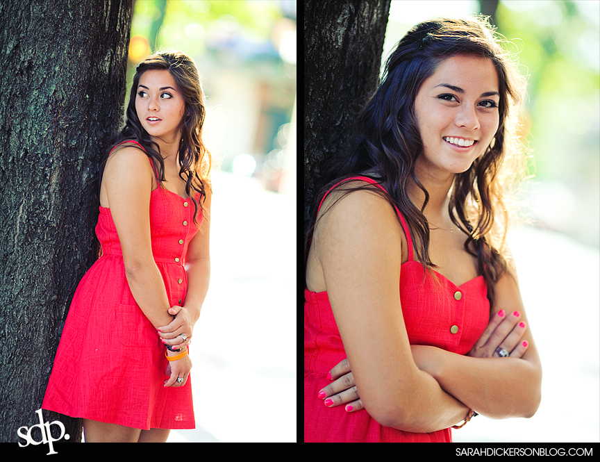 Kansas City Country Club Plaza senior photography