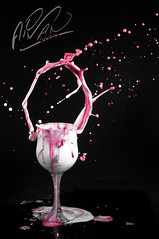 Dance with Milk (Aiman Turkistani .. Vancouver) Tags: pink milk nikon splash ayman d300 aiman strowberry       turkistani