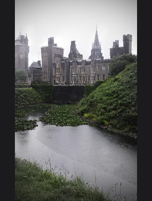 Castle in rain