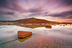 Coastal Landscape (-yury-) Tags: sky seascape water sunrise reflections landscape long sydney australia calm reef cluds