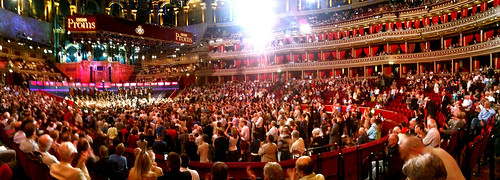 Panorama taken at Prom 62, Royal Albert Hall, 1 September 2010