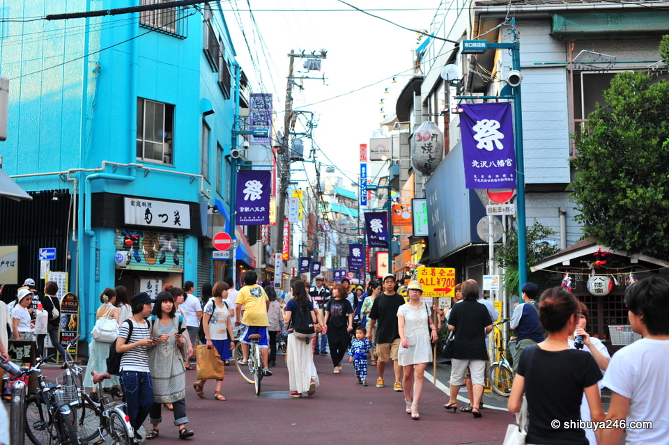 The streets are normally crowded on weekends at Shimokitazawa
