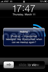 Notifo : application de notification pour iPhone / iPad gratuite pour le push Twitter et d'autres services