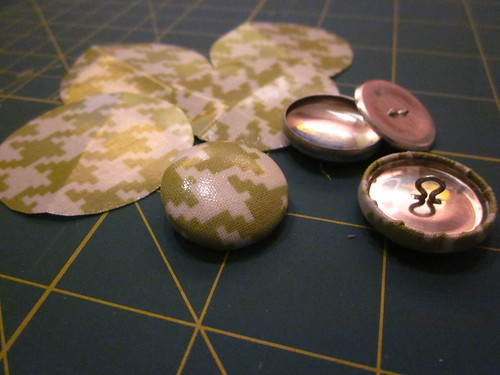 covered buttons for rain coat!