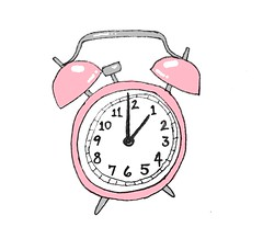clock (::brown::) Tags: life pink color art alarm clock illustration bells drawing illustrated illustrations objects ring goodmorning alarmclock thelittlethings