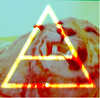 Tiger triad (Krysten_N) Tags: jared mars art history 30 museum photoshop this is 3d interesting graphics triangle war natural stripes teeth tiger avatar hurricane seconds leto triad echelon glyphics