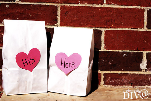 His & Hers Popcorn bags