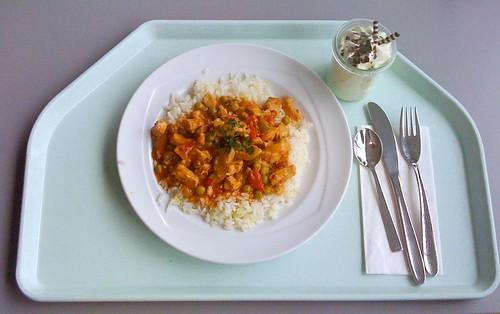 Putengeschnetzeltes Zigeuner Art / Turkey chop with paprika sauce