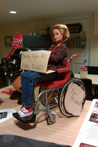 Becky taps into her true passion for disability rights activism