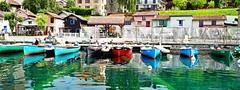 DSC02490mr - Thonon - maisons et barques de pêcheurs (olivierurban) Tags: thonon lac léman port barques pêcheurs sony alpha7