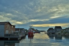 Want to go back... (!Claro) Tags: canada novascotia peggyscove village sea atlantic evening atmosphere endoftheday peaceful bluehour boat ship quiet