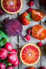 What Are Antioxidants (petergaum) Tags: nopeople meal rustic collection organic grapefruit radish raspberry snack backgrounds freshness variation red woodmaterial nature lifestyles closeup fruit tomato commonbeet vegetable food dietary veganfood