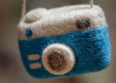 6/16 Felted Camera (Karol A Olson) Tags: felted craft wool camera project3652017 mdpd2017 jun17