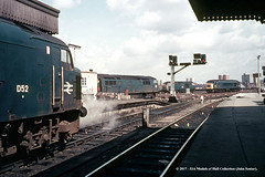 c.1969 - Bristol Temple Meads. (53A Models) Tags: britishrail brush type4 class45 d52 western class52 hymek class35 dieselhydraulicdieselbristoltemple meads train railway locomotive railroad