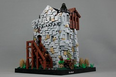 Bjarn-dar Keep (soccersnyderi) Tags: lego castle medieval creation scottish tower fortress keep house stone texture technique wall timber addition stairs corbel crenelation roof landscape modular interior mitgardian mitgardia turret round