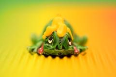 I must warn you... I'm a Banana Ninja! (Maria Godfrida) Tags: smileonsaturday tinytoys ninja turtle tiny toy small cute colors colours yellow green banana closeup macro