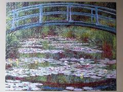 The Japanese Footbridge [detail] (pefkosmad) Tags: pomegranate jigsaw puzzle 1000pieces complete leisure pastime hobby painting art claudemonet thejapanesefootbridge pond bridge lilies secondhand used