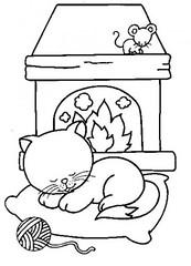 Gato (Luciana de Campos) Tags: gatinhos riscos moldes aplicação patchcolagem