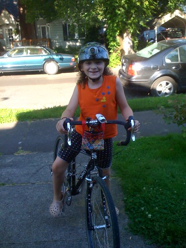 Excited 10yr old Cyclist...