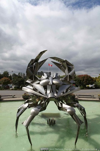 Crab Fountain at the Musuem of Vancouver