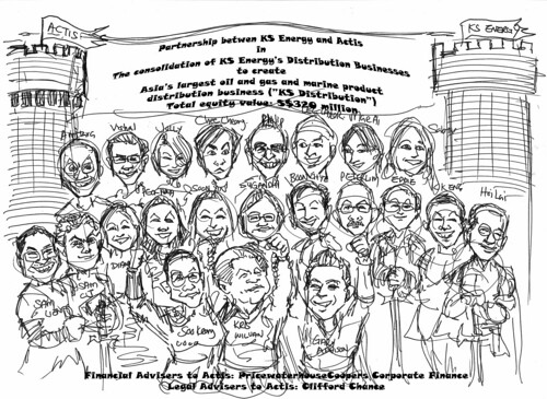 sketch for PricewaterhouseCoopers caricatures