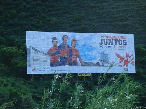 cartel socialista sobre el trabajo y la unión