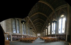 Suzzallo Library Reading Room (jepoirrier) Tags: seattle autostitch panorama uw table reading washington university stitch library room books wa lamps suzzallo hugin