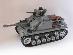 "Brickmania Stug III (""Rumrunner"") Tags: 3 army gun tank lego iii wwii machine destroyer german ww2 armour axis worldwar2 mg42 stug brickarms brickmania"