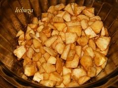 Cake de manzana-con azúcar