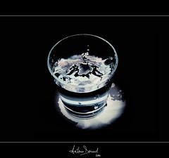 Splash (Antonin Douard) Tags: blue light white water glass eau drink lumire drop bleu blanc goutte verre boire boisson colorphotoaward