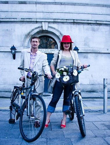 Dublin Cycle Chic - Dad and Daughter