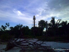 Sanibel Island lighthouse at Twilight