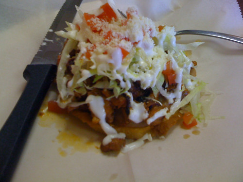 Spicy pork sope from Tacos Borolas
