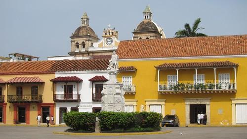 View toward Iglesia de San Pedro Claver from Plaza de la Aduana.