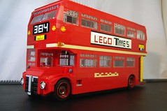 Routemaster RM London Bus (lego911) Tags: auto bus london model lego vehicle routemaster lugnuts rm moc godsavethequeen miniland foitsop