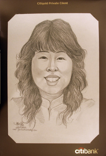 Portrait & caricature live sketching for Citigold Private Client 23 June 2010 - 7
