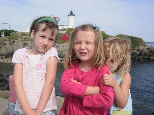 Girls at the lighthouse