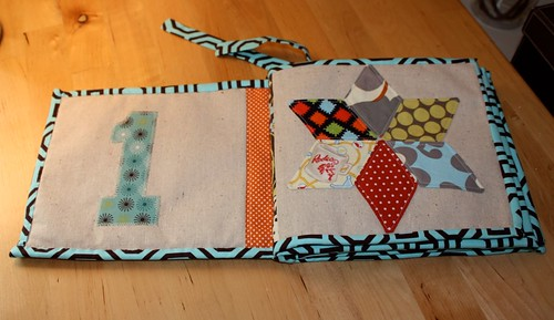 babyluxdesign hand made baby counting book
