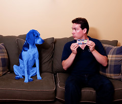 26/52 Blue is Back! (Paguma / Darren) Tags: blue dog man me hound smarties commercial parody floyd tamronspaf1750mmf28xrdiiildasphericalif