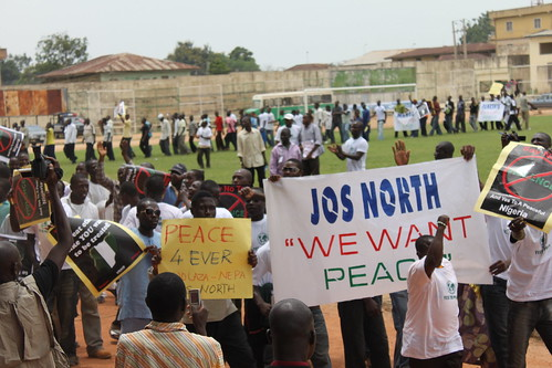 Youth of Jos North march for peace