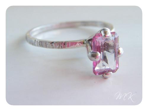 pink mystic topaz ring 9