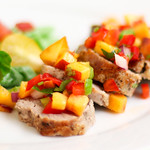 Pork Tenderloin with Peach-o de Gallo